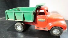 Tonka Round Front End Green Red Dump Truck