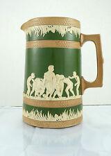 Copeland Porcelain Pitcher Football Motif Late 19th Century J McD & S