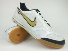 Nike Mens Rare Air Gato Gold White Indoor Soccer Shoes Boots Size 13
