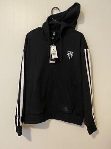 RARE Adidas Tracy McGrady T-Mac Logo Star Full Zip Hoodie Black Sz M Brand New