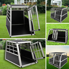 Aluminium Heavy Duty Dog Pet Puppy Cage Kennel Travel Transport Crate Carrier UK