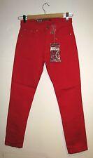 Pantaloni denim 5 tasche rosso Relco JEANS 32 x 31.5 IT 46 chiusura con zip