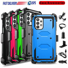 For Samsung Galaxy A32 5G Case Shockproo Belt Clip Hard Phone Cover +Accessories