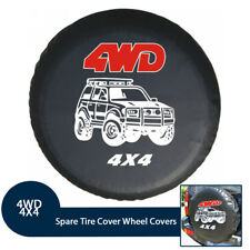 Soft Leather Spare Tire Cover Waterproof 4WD 4X4 RV Wheel Covers for Jeep SUV