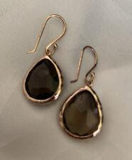 New IPPOLITA Rose Gold Brown Smoky Topaz Rock Candy Teardrop Earrings $495.00