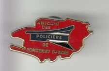 RARE PINS PIN'S .. POLICE NATIONALE AMICALE KEPI CARTE FONTENAY SOUS BOIS 94 ~C6