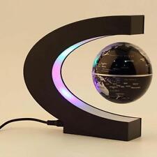 C Forme LED Mappe Monde Déco Lévitation Magnétique Flottant Globe Lumière AH