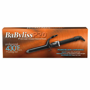 """NEW! BABYLISS PRO 1"""" PORCELAIN CERAMIC SERIES 430° SPRING CURLING IRON # BP100S"""