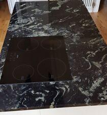 black granite kitchen island worktop