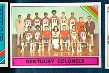 25 cards of 1975-76 Topps Basketball #323 Kentucky Colonels Team Photo E9