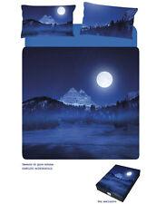 Completo Lenzuola / Copriletto Matrimoniale Tre Cime di Lavaredo Blu Caleffi