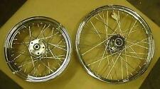 Chrome Laced Wheels fit Harley FXST
