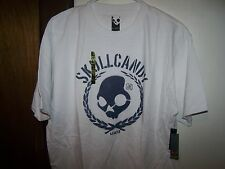 SKULLCANDY T-SHIRT -TEE SHORT SLEEVE-WHITE LARGE ADULT