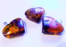 "Lot -3 Genuine  Baltic  Amber   Pendant   ""Heart"""