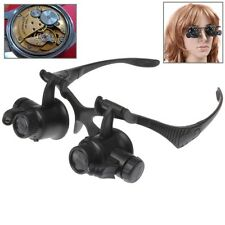 Magnifier Watch Repair occhiali con differenti lenti 10X 15X 20X25X