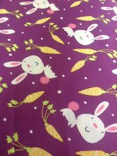 Free Spirit Garden Bunny Carrots Craft Fabric By The Half Metre