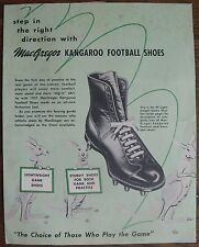 1957 MacGregor Kangaroo Football Shoes Brochure