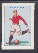 Thomson - Football Team Cards 1934 - # 58 Port Vale
