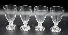 "Set of 4 Vintage Anchor Hocking Clear Boopie 4 1/2"" Juice Glasses"