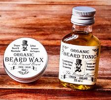 15ml Organic Moustache Wax + 20ml Organic Beard Oil by Revered Beard. Premium