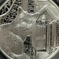 1 oz .999 Silver Proof Art Lisa Parker What Lies Within Cat Kitten Wolf Limited