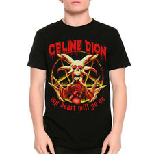 Celine Dion My Heart Will Go On Funny Death Metal T-Shirt, Rock Graphic Tee