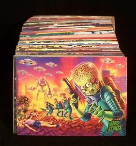 MARS ATTACKS INVASION  Complete Trading Card BASE Set  Aliens Martians