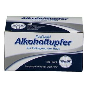 PARAM 100 Alkoholtupfer - Alkoholpads neu & sofort lieferbar