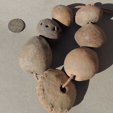 7 ancient terra cotta clay beads djenne mali #4