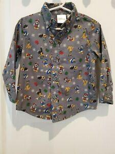 Infant/toddler boys Disney Holiday longsleeve dress shirt 18M