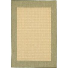 Couristan Recife Checkered Field Natural & Green Indoor/Outdoor Rug