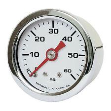 Marshall Öldruckmesser Öldruckanzeiger White Face 60PSI für Harley - Davidson