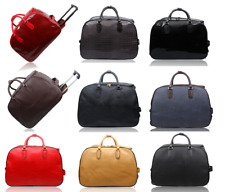 Flight Approved High Capacity Carry On Luggage Travel Handbag Faux Leather Bag
