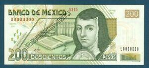 Mexico Specimen Pick 119as 200 Pesos Oct 2000