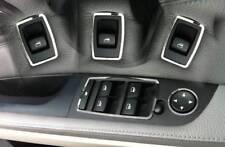 D BMW e90 e91 CROMO QUADRO PER INTERRUTTORE ALZACRISTALLI IN ACCIAIO INOX LUCIDATO 5 pezzi
