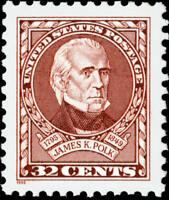 Scott #2587 James K. Polk - 11th President 32c - 1995 Mint NH Single
