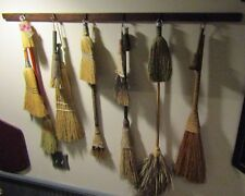 """PRIMITIVE DRYING RACK (SHAKER STYLE) -7 PEGS-46"""" LONG - NICE FOR DRIEDS,BROOMS"""