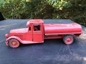 Original 1930's Buddy L Junior Oil Tank Truck Pressed Steel Restoration Project