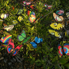 10pcs Vivid Art Butterfly On Stick Garden Vase Lawn Craft Ornament Decor Popular