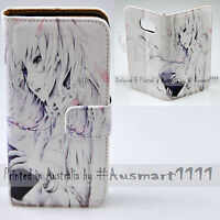 For Samsung Galaxy Note Series Reading Girl Anime Print Wallet Phone Case Cover