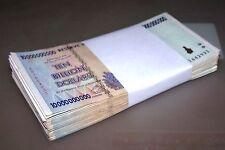 100 x Zimbabwe 10 billion Dollar banknotes-full currency bundle