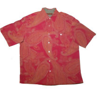 Tori Richard Red Paisley 100% Silk Size XL X-Large Hawaiian Aloha Shirt