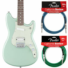 Fender Duo Sonic HS Guitar Surf Green Offset Series Includes 2 California Cables