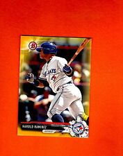2017 BOWMAN YELLOW RETAIL PAPER PARALLEL Harold ramirez  Bluejay #BP120 NRMT