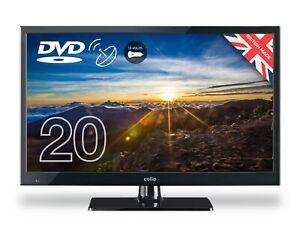 "20"" 12v LED TV/DVD + Freeview & FreeSat, Caravan, Boat, Hgv + 12v lead"