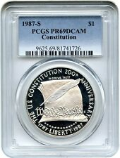 1987-S Constitution $1 PCGS PR 69 DCAM - Modern Commemorative Silver Dollar