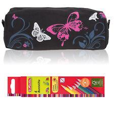 Zipper Mäppchen Elephant Signature Schlamper Pennal 12676 Butterfly Pink +Stifte