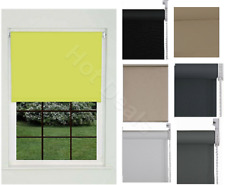 100% Thermal Roller Blinds Plain Colour UV-resistant Blackout Trimmable Easy Fit