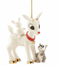 Lenox Rudolph's Furry Friends Ornament 2019 Annual Rabbit Red Nosed Reindeer New
