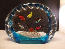 Authentic Murano Glass fish tank - Beautiful 5 fish Vintage Sculpture Aquarium